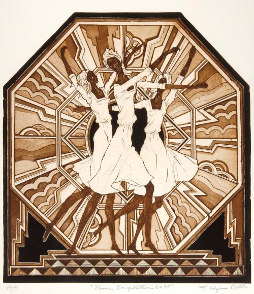 """Dance Composition 35"" early 1990s. Etching with aquatint on paper. Courtesy of the Kelley Collection"